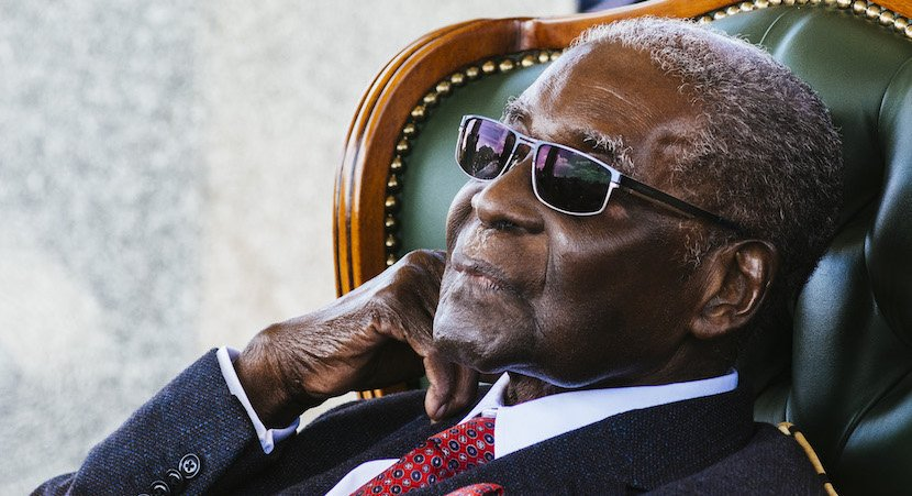 Mugabe dies in front of Grace